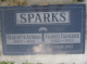 Headstone: Francis Frederick Sparks