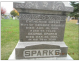 Headstone: George Sparks and his wife Catherine Owens