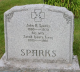 Headstone: John R Sparks and Sarah Laura Long