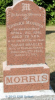 Headstone: Edward Morris and his wife Sarah Bradley