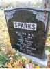 Headstone: William Morgan Sparks and his wife Anna Davis