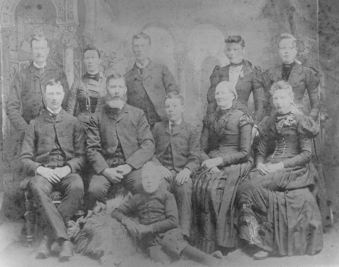 Edward Morris Family of Metcalfe, Ontario whose daughter Charlotte married George Henry Sparks of Hazeldean, Ontario